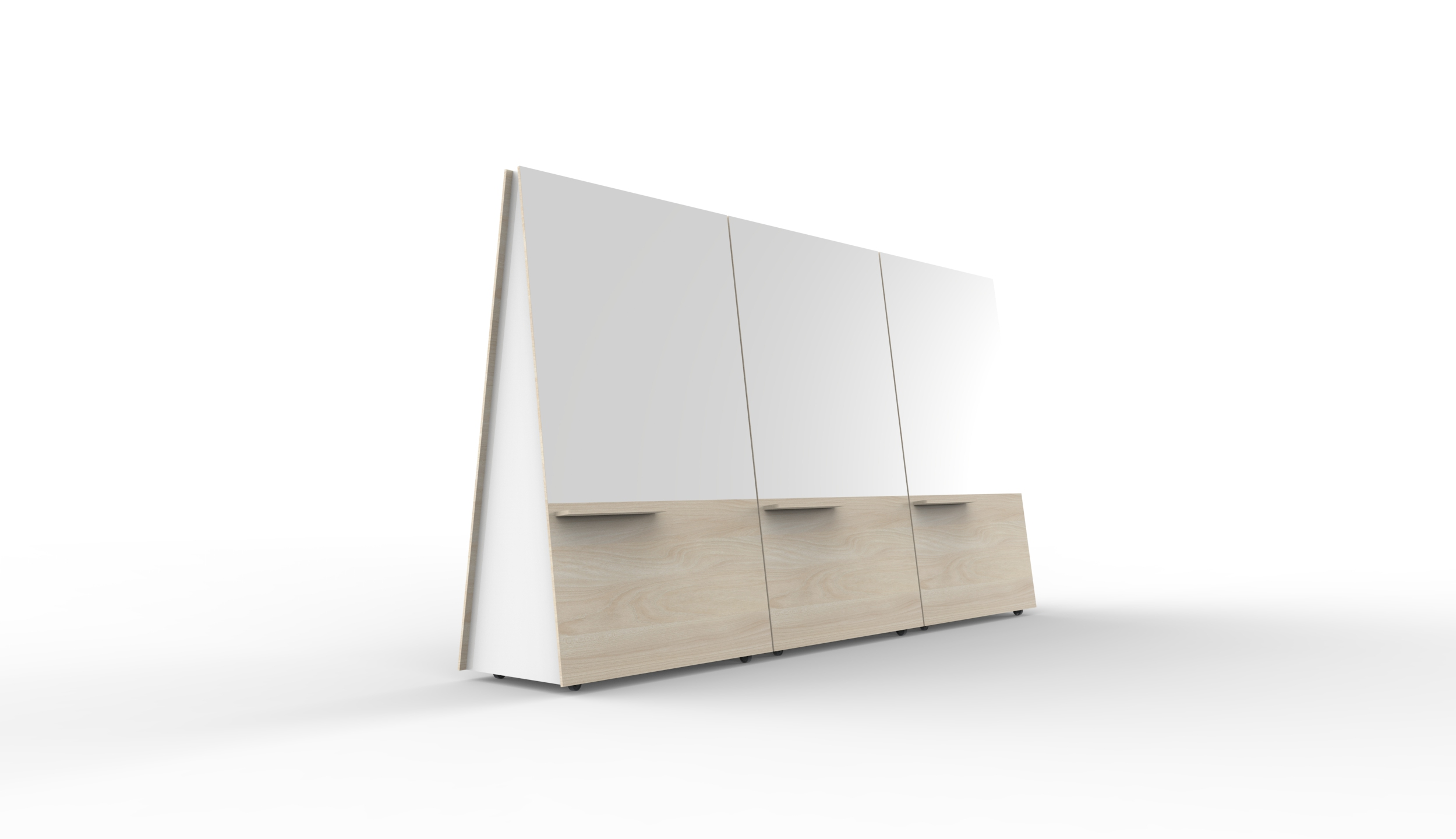 Three Wedge Whiteboards by Luxxbox