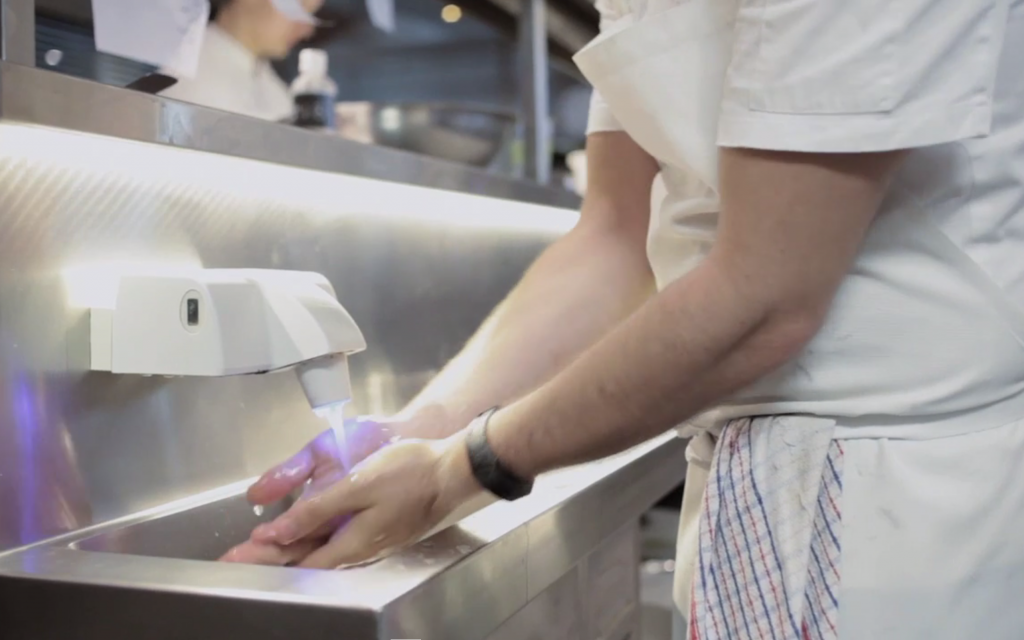 eWater Systems Handwash in use