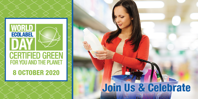 World Ecolabel Day 2020 Woman Buying Cleaning Products